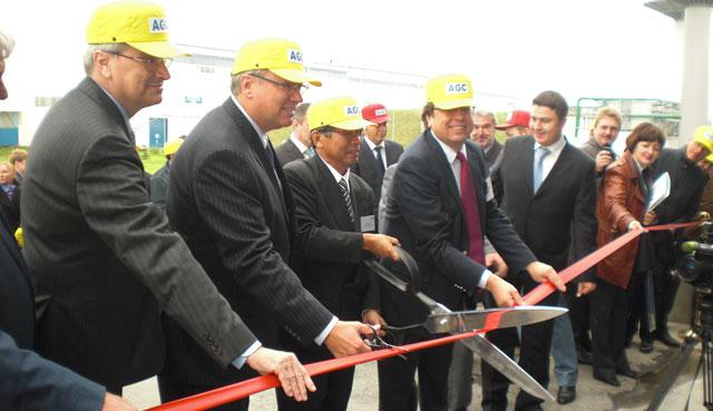 открытие новой линии AGC Glass Europe