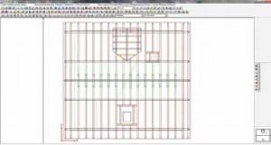 Рис. 11. Пример области моделирования проекта - Конструк- ция крыши (Dietrich's)