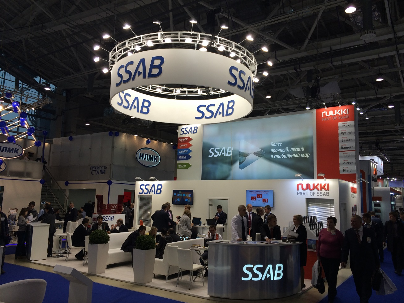 стенд SSAB и RUUKKI на выставке Металл-Экспо в Москве