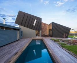 В Норвегии построили высокотехнологичный дом с необычной крышей