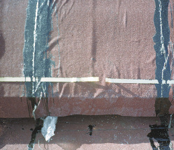 Оклейка фонаря из горючих материалов с применением холодных мастик и механического крепления
